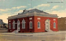 Greenville OH~United States Post Office~Catti-Corner Entrances 1911 Licking M0