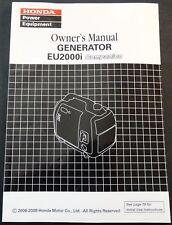 2008-2009 Honda Power Generator Eu2000i Companion Owners Manual (262)
