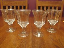 Four Independence Glass Ware Japan Clear Octagon Water Goblets