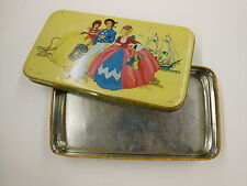 vintage Tin with bright color Lid for FILLERYS TOFFEES LTD Birmingham England