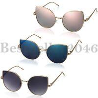 Damen Cat Eye Metallrahmen Sonnenbrille im freien Auge Brille Brillen UV400