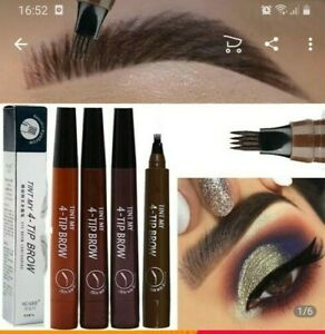 TINT MY 4- TIP BROW LIQUID EYEBROW PENCIL WATERPROOF - MICROBLADDING  UK SELLER