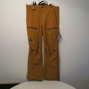 The North Face SHDR Ski Snow Pant Timber Tan Dry Vent Zip Buckle L/REG NWT $380