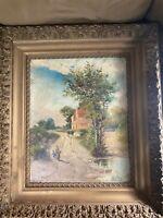 "Leon Richet (1847 - 1907) ""Figures In Landscape"" Oil Painting - Signed/Framed"