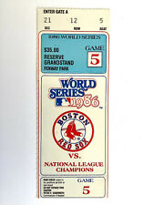 🔥🔥1986 World Series Game 5 Ticket Stub Mets Vs Red Sox Fenway Park🔥🔥
