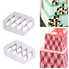 2 x Diamond Plastic Cookie Cutter Set - Biscuit Pastry Mold - Fondant Cake Mould