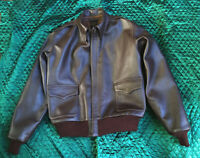A2 FLIGHT JACKET REAL LEATHER GOAT SKIN JACKET BROWN PREMIUM QUALITY PRODUCT