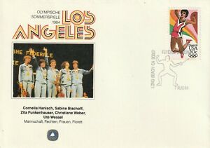 1984 USA/Germany cover Olympic Games Los Angeles - Germany Gold Team Florett