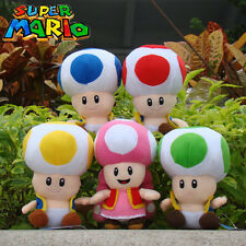 "5Pcs Super Mario Run Bros Play Game Plush Toy Toad 6.5"" Cute Stuffed Animal Doll"