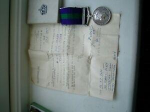 GENERAL SERVICE MEDAL PALESTINE 1945-48 TO AYRE ROYAL SIGNALS FROM HEMEL HEMSTEA