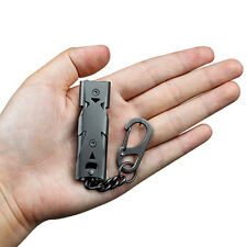 150DB Stainless Steel Whistle Lifesaving Emergency SOS Outdoor Survival Black