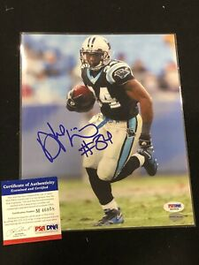 🔥DEANGELO WILLIAMS AUTOGRAPHED 8x10 PHOTO PANTHERS PSA PSA/DNA COA RARE🔥