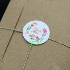 """500pcs thank you Flowers Label sealing sticker 1.37"""" Multicolor Round sticker"""
