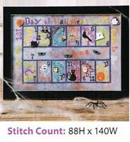 13 DAYS OF HALLOWEEN  CROSS  STITCH PATTERN ONLY -    ZA - HEV