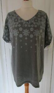 NEW Bonmarche Grey Studded T-Shirt Top UK 20