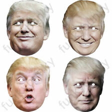 4 Types Of Donald Trump Celebrity Card Mask Fully Cut- Elastic and Sticky Tabs