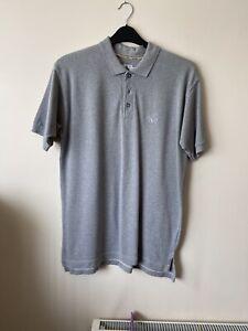 Mens Calvin  Klein Grey Polo Shirt Size Medium