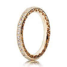 14 Carat Yellow Gold Heart Pandora Ring Size N