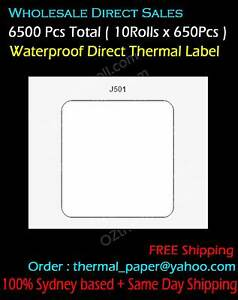 Water Proof Label 58x59mm Direct Thermal Label