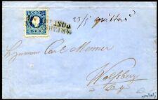 ÖSTERREICH 1858 15II auf BRIEF FAHRBARES POSTAMT Nr 4 ATTEST VÖB (S7810
