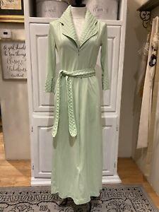 Wrap Loungewear. nightwear Made in USA 1970s Gossard Artemis Pale Blue Nylon Robe Vintage 1960s