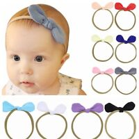 Newborn Baby Girl Toddler Kids Bow Knot Headband Hair Band Headwear Photo Props