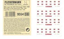 4 x FLEISCHMANN 9554 DB-Logos Ep V z.B. für ICE-Fahrzeuge 7440 - 7449 Spur N NEU