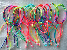 Handmade Lot 10pcs 6mm Width Colorful Braid Cord Friendship Bracelets