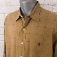 Polo Ralph Lauren Lowell Sport Brown Checked Long Sleeve Shirt XL