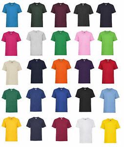 Fruit of the Loom Valueweight T Kids,Rundhals-Ausschnitt,Kinder kurzarm T-Shirt