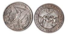 Fantasy Issue Novelty Coin 1881 CC Morgan Dollar W/ Pirate Skull & MAP