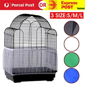 SML Nylon Mesh Pet Bird Cage Seed Catcher Guard Cover Shell Skirt Decoration Net
