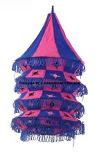 Traditional Indian Vintage Lamp Shade Lightning Cotton Lamps Wall Decor 5 Step