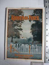Kitselman Fence Pamplet, 1932. Muncie, Indiand. Illustrated. AB72