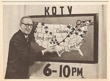 1964 tv ad ~ KQTV Weatherman at the Weatherboard in Fort Dodge,Iowa
