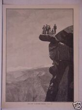 "Print, German, ""Glacier Point"",Yosemite,California 1880"