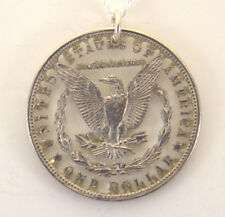 Morgan Dollar Reverse with Letters Cut Out Coin Jewelry, Necklace