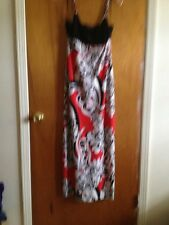 New Scarlett  Jersey Sun  Dress Red White Black 8 Evening....