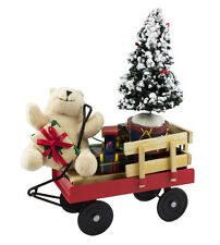 Byers' Choice Ltd Bear On Wagon w/ Tree