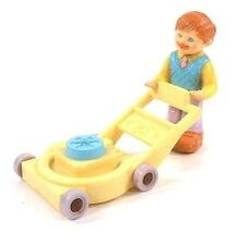 Fisher Price Precious Places Dad At Work With Lawn Mower 1988