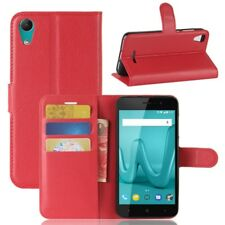 Cover Wallet Premium Red for Wiko Lenny 4 Pouch Case Protector New Top