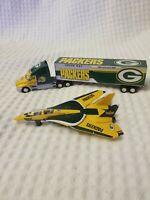 Green Bay Packers Bell Jet & Truck Set by Fleer