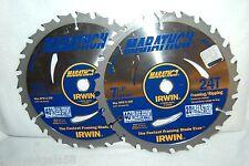 14030 Irwin Marathon Circular Saw Blade 7-1/4 24 Tooth LOT OF 2 Ripping Framing