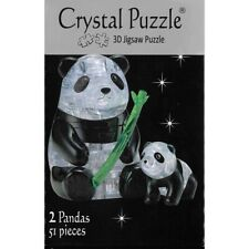 Bepuzzled Crystal Puzzle Pandas 3d Jigsaw Puzzles 51pc Ven902393