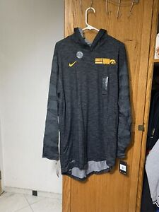 NWT Men's Nike Dri Fit Iowa Hawkeyes NCAA Long Sleeve Sweatshirt Hoodie Size XXL