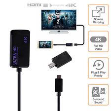Plug & Play 5 Pins or 11 Pins Micro USB MHL 3.0 to HDMI HDTV Cable Adapter 1080P