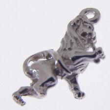STERLING SILVER RAMPANT LION CHARM.  925 SILVER LION RAMPANT CHARM or PENDANT