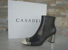 CASADEI  38,5 Stiefeletten Ankle Boots Booties Schuhe schwarz neu ehem UVP 890 €