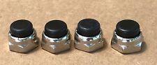 Harley Shovelhead Rocker Box Nuts Set of 4 1966 - 1984 Black 7872B NEW (1034)