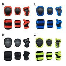 6PCS Kids BMX Bike Knee Pads and Elbow Pads Wrist Guards Protective Gear Set